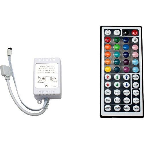 RGB Steuerung IR mit 24- oder 44- Tasten in Standard- oder Mini-Ausführung für LED RGB Streifen (44 Tasten Standard)