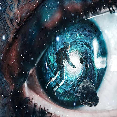YYRAIN Impresión 3D Tapiz De Poliéster Personaje De Ciencia Ficción Tapiz Niña con Máscara Tapiz Sala De Estar Dormitorio Pasillo Decoración De La Pared 90x59 Inch {230x150cm}