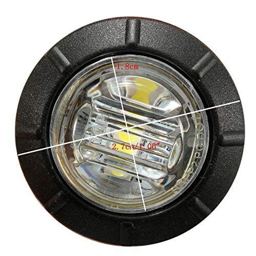 YNLRY 10 unids 12V LED Light LIGES EXTERNAS AUTOMÁTICA Car Truck TRUCHO Lado Light INDICADOR DE LUZ DE LA LÁMPARA DE LA LÁMPARA DE LA LÁMADA DE LA Tapa Trasera Blanco