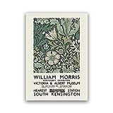 Carteles e impresiones vintage de William Morris, exposición en...
