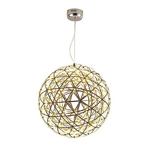 LHTCZZB Moderna de acero inoxidable forma esférica for colgar cortinas de la lámpara LED de techo pendiente de la luz de la personalidad creativa Bar Cafetería Restaurante Habitación Lámparas Inicio i