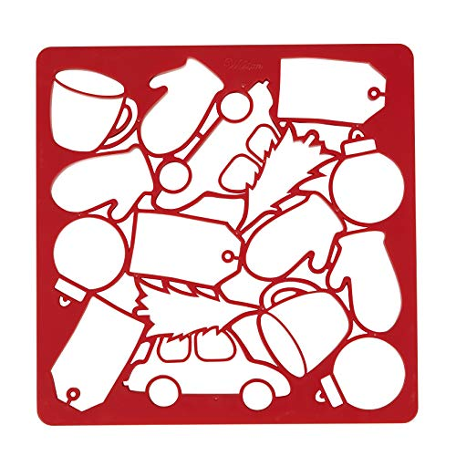 Wilton Holiday Multi-Cookie Cutter Sheet, Red
