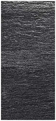 Türtapete Türposter Muster Schwarze Schiefertafel Optik Steintafel - Größe 93 x 205 cm