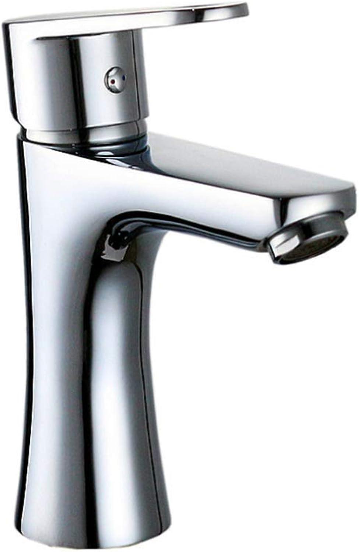 Basin Mixer Tap Bath Fixtures Wash Basinsinkkitchen Washbasin Faucet, All Copper Plating, Hot and Cold Water Mixing Valve, Bathroom Bathtub Tap