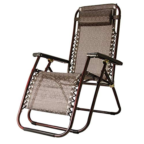 Fauteuils inclinables inclinables, avec Oreiller Zero Gravity Garden Beach Outdoor Chaise Longue réglable avec Repose-Pieds - Tissu crypté 3D + Maille Teslin