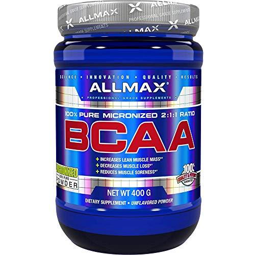 ALLMAX Nutrition BCAA, Instantized 2:1:1 Ratio, Unflavored Powder, 400 g
