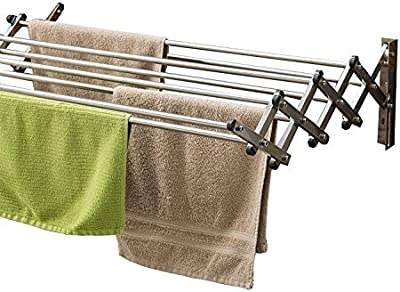 Parasnath Stainless Steel Wall Cloth Dryer Stand 7 Pipes 24 Inch / 2 Feet Made in India