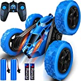 Remote Control Car - Drift Stunt Truck, RC Cars for 4WD High Speed Off Road, Race Toy with 2 Rechargeable Batteries & 2 AA Batteries, Birthday Gifts for Boys Age 4 5 6 7 8 9 10 11 Year Old Kids Toys