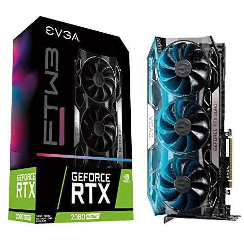 EVGA GeForce RTX 2080 Super FTW3 Ultra, Overclocked, 2.75 Slot Extreme Cool Triple + iCX2, 65C Gaming, RGB, Metal Backplate, 8GB GDDR6, 08G-P4-3287-KR