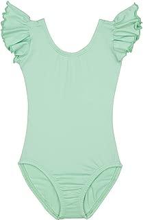 Leotard Boutique Flutter Short Sleeve Dance Leotard   Ruffle Leotards Toddlers and Girls in 23 Colors