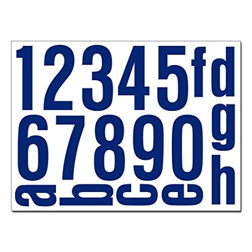 Hausnummern Aufkleber Folien Set Nummern und Buchstaben zum Aufkleben (reflektierend oder matt) (dunkelblau-reflex)