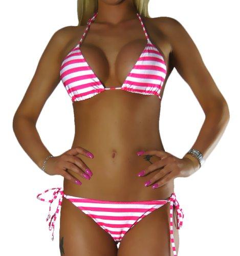 ALZORA Neckholder Damen Bikini Set Sets Top und Hose Auswahl Modelle, 10400 (M, M13)