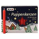 2er Pack Puppenkerzen rot ca. 7 x 65 mm (2 x 40 Stück), Puppenlichter, Miniaturkerzen,...
