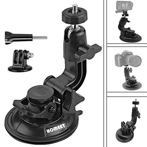 Homeet Saugnapf Halterung Monopod Stativ Auto Kamera Saugnapfhalterung Scheibenhalterung Stativzubehör für Actionkameras