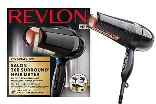 Revlon Pro Collection Salon 360 Surround AC Hair Dryer, 1800 W