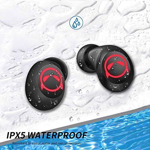 Auriculares inalámbricos AMAFACE, auriculares Bluetooth deportivos, inalámbricos con micrófono dual y control táctil, 36 horas de reproducción Diablo para regalo