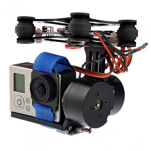CNC Borstelloze Gimbal Camera Bevestiging met Motor & Controller FPV PTZ Voor Gopro 2 3 3+ DJI Phantom ST-303