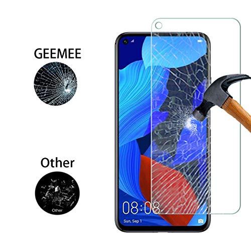 GEEMEE (2 Pack Schutzfolie für Huawei Honor 20 /Huawei Honor 20 Pro/Huawei Nova 5T, 9H Filmhärte Gehärtetem Schutzglas Hohe Empfindlichkeit Panzerglas Displayschutzfolie (Transparent) - 3