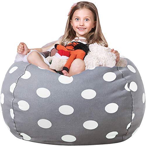 WEKAPO Stuffed Animal Storage Bean Bag Chair