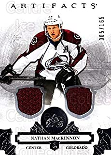 (CI) Nathan MacKinnon Hockey Card 2017-18 UD Artifacts Material Silver 60 Nathan MacKinnon