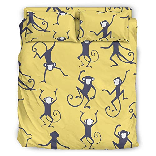 Mon-Key - Set di biancheria da letto con stampa morbida, per San Valentino, 240 x 264 cm, colore: Bianco