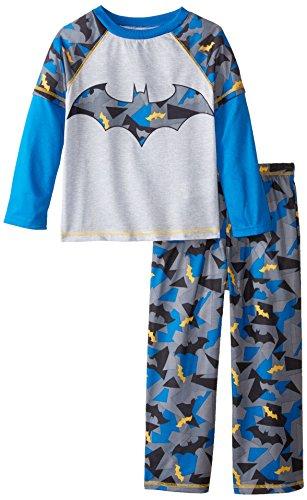 Batman Big Boys' Batman Jersey 2 Piece Set, Blue, X-Small