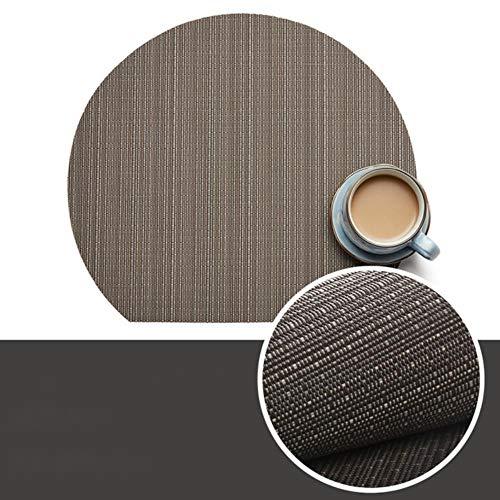 JIAYAN 2019 Neues nordisches halbrundes Bambus-Küchen-Tischset für Esstisch-Untersetzer Mantel Individuelles Cup Pad-Geschirr, Bambus 07, ca. 35 cm x 31 cm