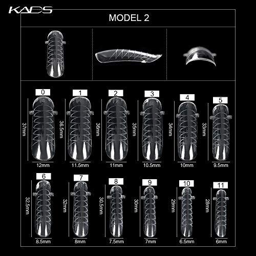 KADS 120 moldes para uñas postizas de gel acrílico o gel UV con escala para extensión