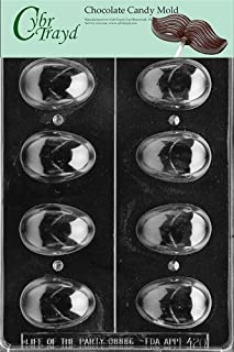 Cybrtrayd Life of the Party E420 3D Plain Eggs Easter Chocolate Candy Mold in Sealed Protective Poly Bag Imprinted with Copyrighted Cybrtrayd Molding Instructions