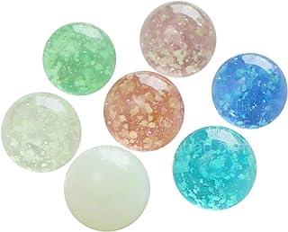 BANGNA Boule de Verre Lumineuse 7 Pcs/lot 25mm Perles de Boule décoratives de réservoir de Poisson Transparent