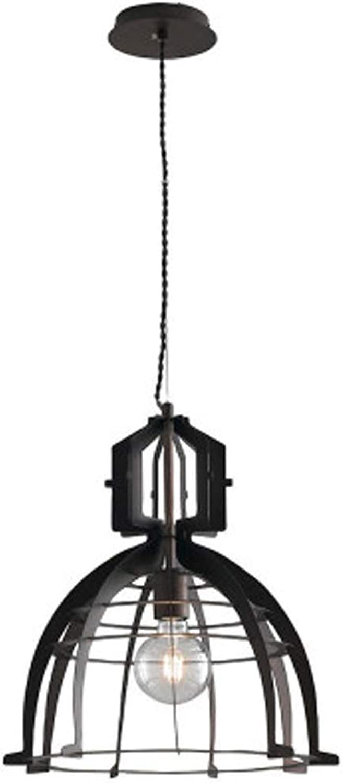 XLJRetro Pendelleuchte Kronleuchter Schwarz Metall Hngeleuchte Kreative Hngelampe Esszimmer Lampe Cafe Bar Leuchte E27 Hhenverstellbar Pendellampe Max 40W 40H50cm