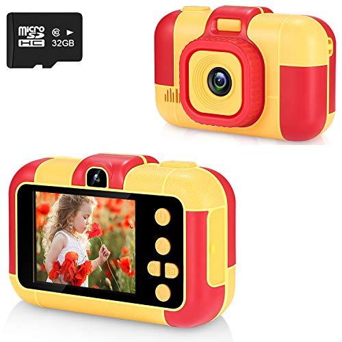 ASIUR Fotocamera Digitale per Bambini 1080P HD Videocamere Giocattolo Ricaricabili Videocamere per Bambini per Ragazze e Ragazzi 3-8 Anni Compleanno Natale Capodanno Regalo (Oro)
