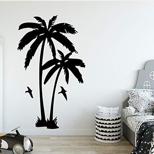 Kokosnoot boom Plant Muursticker voor Woonkamer Verwijderbare Vinyl Palm bomen Muurstickers voor Kids Kamer Decor 43 * 71cm
