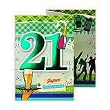 afie 882126 B Carte 3 Volets Joyeux Anniversaire 21 ans