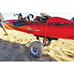 """Malone WideTrak SB Large Kayak/Canoe Cart with Balloon Wheels & Bunks 13 24"""" adjustable padded bunks with mounting hardware Folding silver & black anodized aluminum frame Corrosion resistant stainless steel fittings"""