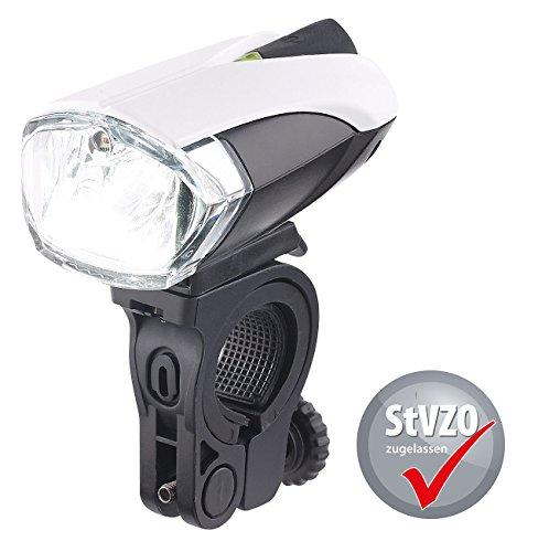 KRYOLiGHTS Fahrradleuchte: Fahrradlampe FL-211 mit Cree-LED, Akku, zugelassen nach StVZO (Fahrradscheinwerfer)