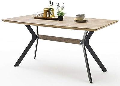 PEGANE Table à Manger rectangulaire Finition chêne Sauvage - L.180 x H.76 x P.90 cm