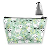 Women Baby Goats On Green Makeup Bag Cosmetic Bags Hand-held Toiletry Travel Organizer For Girl Tools Toiletries