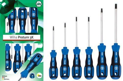 Wiha 455NK6 Proturn 3K - Juego de destornilladores Torx (6 unidades)