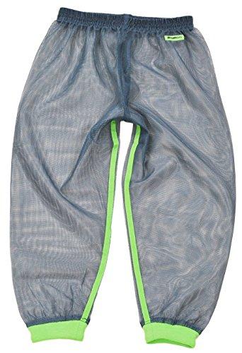 MOTHKEEHI/蚊の嫌がる忌避成分を使用した「着る蚊帳(かや)」防虫メッシュパンツ/肌に触れにくいゆったりシルエット (LightGreen, キッズL)