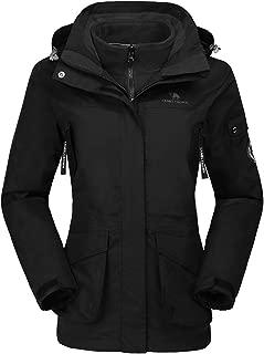 Womens Waterproof Ski Jacket 3-in-1 Windbreaker Winter...