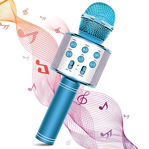 Vubkkty Microphone for Kids Wireless Bluetooth Microphone Family Party...