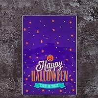 コスプレ ハロウィンキャンディバッグジップロック式バッグ、創造的なカボチャ頭自己飲料バッグベーキングパッケージ100 wangyq (Color : F)