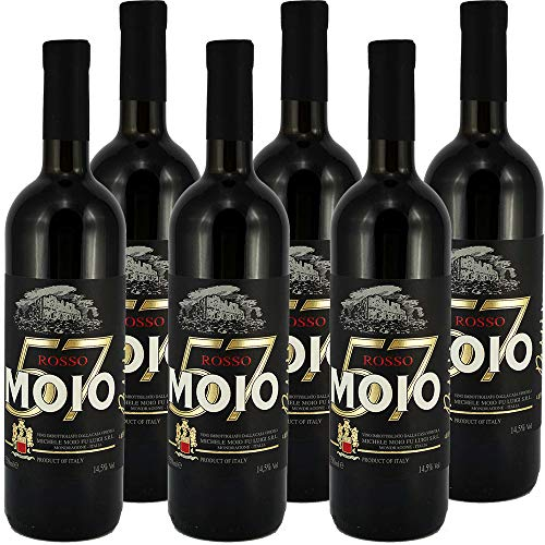 Moio 57 Primitivo   Vino Rosso della Campania   Confezione da 6 Bottiglie da 75 Cl   Idea Regalo