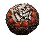 Klocke Lebensmittel - Atrappen Hechas a mano & realistas Imitation/Alimentos falsa–Grandes Tarta de Chocolate con fresas–Diámetro: 22cm/Altura: 10cm