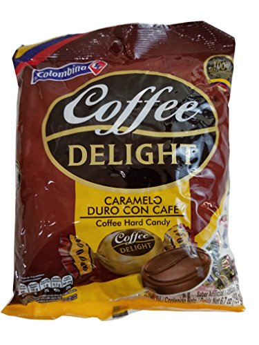 Colombina Coffee Delight Hard Candy / Caramelo De Cafe 50 Pieces 2 Pack