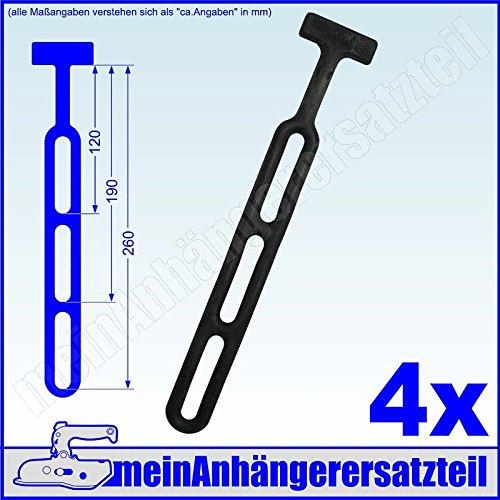 4x Gummistroppen Gummiband für Pkw Anhänger Planen Anhängerplane - schwarz 260mm