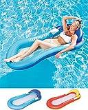 Cozywind Colchoneta Hinchable Piscina Flotador Inflable,Tumbona Hinchable de Playa,Sofá Hinchable Plegable con Almohada(Azul)