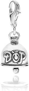Gioielli DOP - Ciondolo Campanella in argento 925 - Charm in argento 925 con smalto - Fatto a mano in Italia - Ciondolo co...