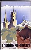 Poster Lausanne Uchy Schweiz Reproduktion, Format 50 x 70
